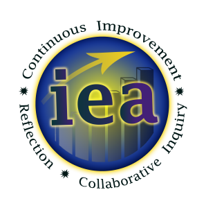 IEA Logo color green lettering